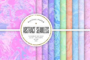 Print on Demand: Abstract Pastel Seamless Backgrounds Graphic Backgrounds By Sabina Leja
