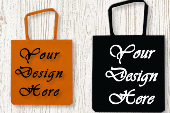 Bags Mockups. Two Bags Mockup, Flat Lay Graphic Product Mockups By MockupsByGaby