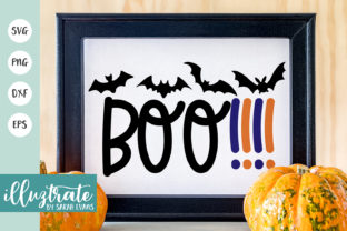 Print on Demand: Boo Cut File - Halloween Graphic Crafts By illuztrate