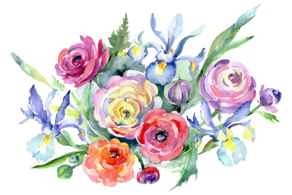 Print on Demand: Bouquet Marseille Watercolor Graphic Illustrations By MyStocks