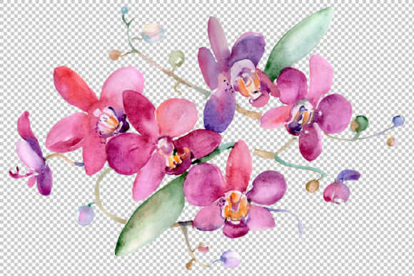 Print on Demand: Bouquet Pink Jessica Watercolor Png Graphic Illustrations By MyStocks