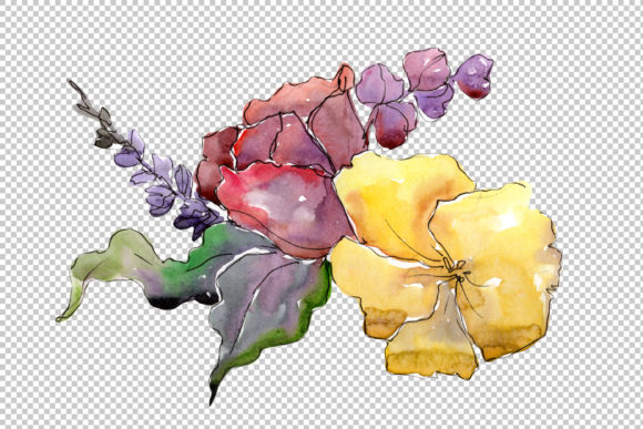Print on Demand: Bouquet of Flowers Rebecca Watercolor Graphic Illustrations By MyStocks