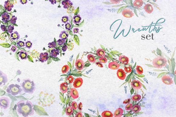 Print on Demand: Bouquet with Wildflowers Watercolor Png Graphic Illustrations By MyStocks - Image 8