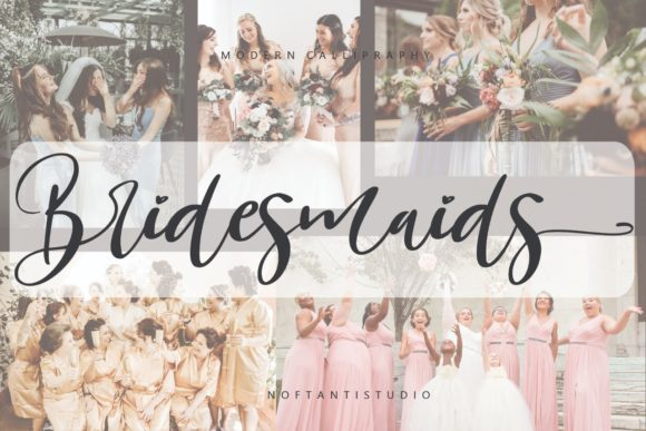 Print on Demand: Bridesmaids Script & Handwritten Font By noftanti