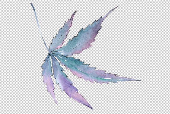Print on Demand: Cannabis Plant Watercolor Graphic Illustrations By MyStocks - Image 4