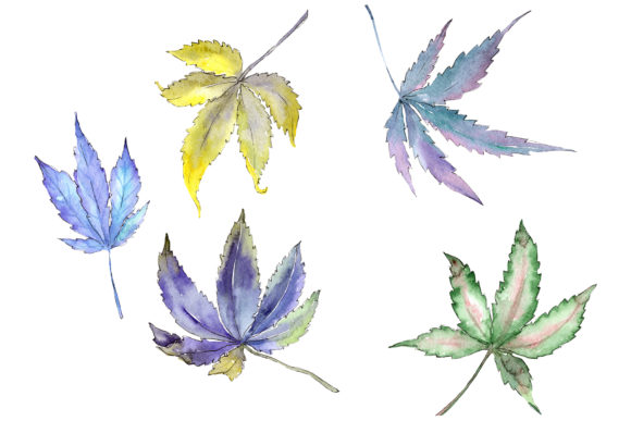 Print on Demand: Cannabis Plant Watercolor Graphic Illustrations By MyStocks - Image 1