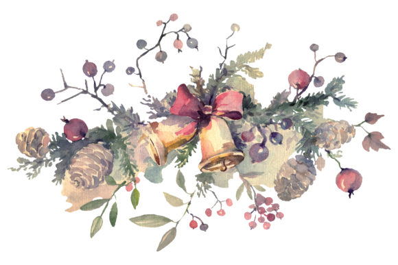 Print on Demand: Christmas Bouquet Winter Joy Watercolor Png Graphic Illustrations By MyStocks