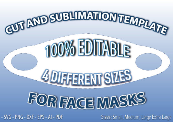 Curved Face Mask Template Graphic Print Templates By Kris Arts