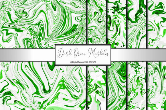 Dark Green Marble Pattern Background Graphic Backgrounds By porlawatsangyoo