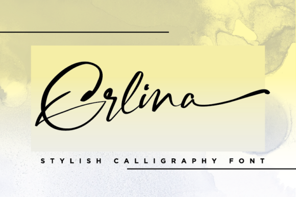 Print on Demand: Erlina Script & Handwritten Font By bayfont