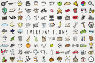 Everyday Items & Chores Icons Clipart Graphic Icons By LemonadePixel