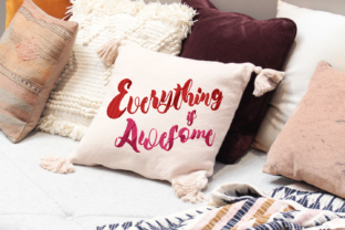Print on Demand: Everything is Awesome Lettering Wedding Quotes Embroidery Design By setiyadissi