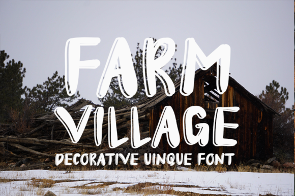 Print on Demand: Farm Village Display Font By K_IN Studio