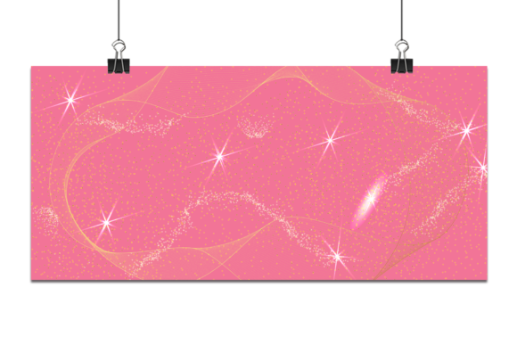 Gold Light with Pink Background. Graphic Backgrounds By Ju Design