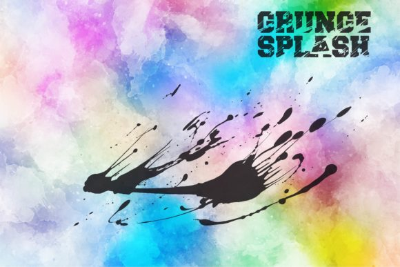 Grunge Splash Font Design