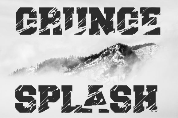 Grunge Splash Font Preview