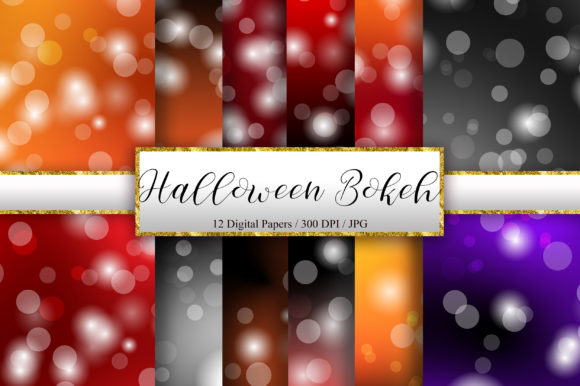 Halloween Bokeh Background Digital Paper Graphic Backgrounds By PinkPearly
