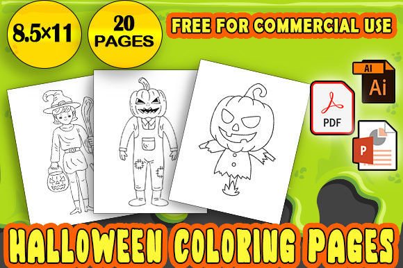 Print on Demand: Halloween Coloring Pages for Kids - KDP Graphic KDP Interiors By NaubitArt