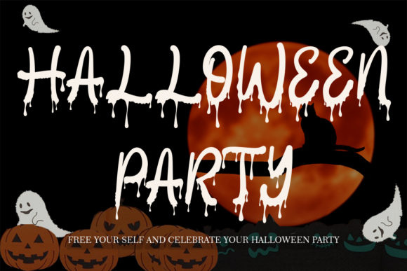 Print on Demand: Halloween Party Script & Handwritten Font By yogaletter6