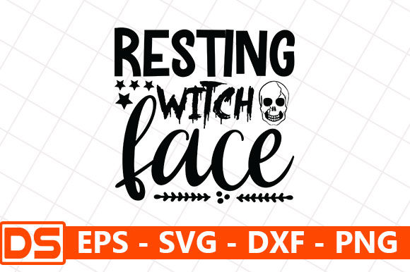 Print on Demand: Resting Witch Face Graphic Print Templates By Design Store