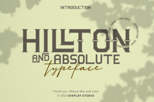 Print on Demand: Hillton and Absolute Serif Font By DisplayStudio_