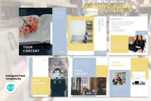 Instagram Feed Template - Reading Book Graphic Presentation Templates By 57creative