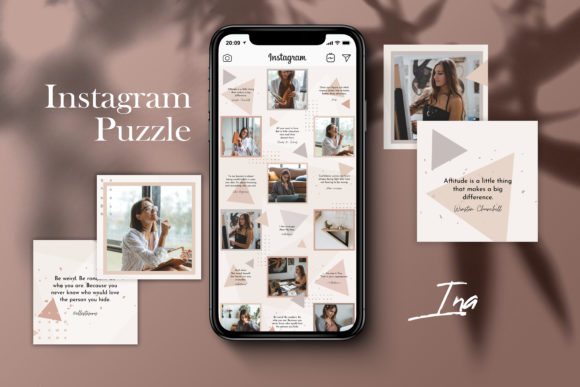 Instagram Puzzle Template - Ina Graphic Websites By CreativePanda
