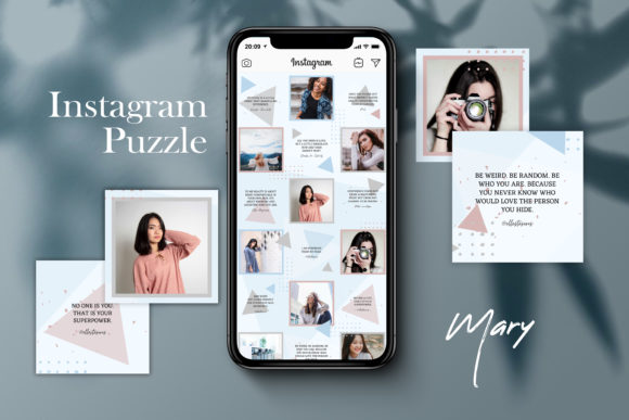 Instagram Puzzle Template - Mary Graphic Websites By CreativePanda