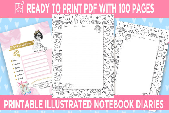 KDP Interior Unicorn Dotted Pages Vol.6 Graphic