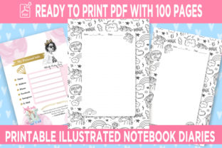 Print on Demand: KDP Interior Unicorn Dotted Pages Vol.6 Graphic KDP Interiors By Queen Dreams Store