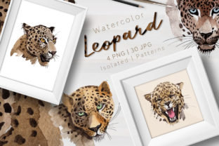 Print on Demand: Leopard Watercolor Set Graphic Illustrations By MyStocks