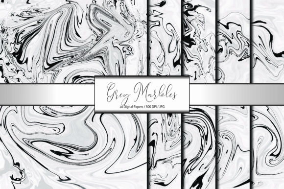 Marble Pattern Abstract Grey Background Graphic Backgrounds By porlawatsangyoo