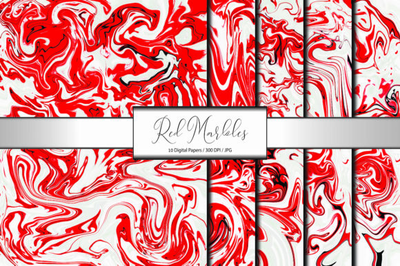 Marble Pattern Abstract Red Background Graphic Backgrounds By porlawatsangyoo