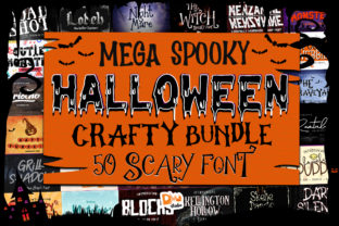 Print on Demand: Mega Spooky Halloween Crafty Bundle  By dmletter31