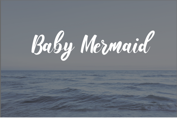 Print on Demand: Baby Mermaid Script & Handwritten Font By Audi Prasetya