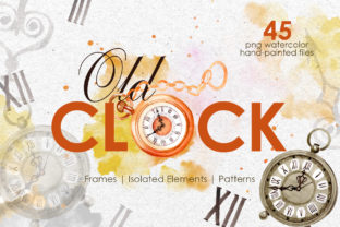 Print on Demand: Old Clock Watercolor Graphic Illustrations By MyStocks