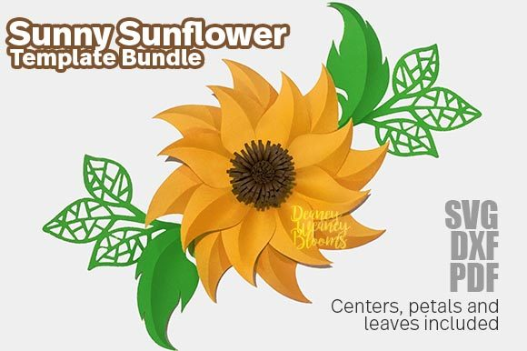 Paper Sunny Sunflower Template Graphic 3D Flowers By Deaney Weaney Blooms