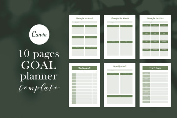 Planner Template Graphic Print Templates By CreativePanda