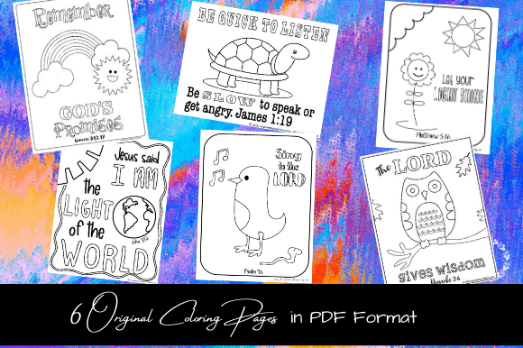 Printable Bible Coloring Pages for Kids Graphic Coloring Pages & Books Kids By sayitwithsimplicity