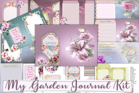 Print on Demand: Printable Garden Journal Bullet Journal Graphic Crafts By The Paper Princess