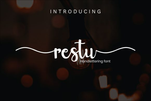 Print on Demand: Restu Script & Handwritten Font By Pidco.art