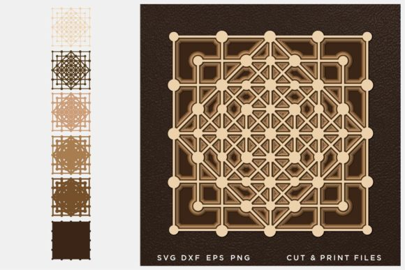 Sacred Geometry SVG, 3D Geometry Graphic 3D SVG By 2dooart