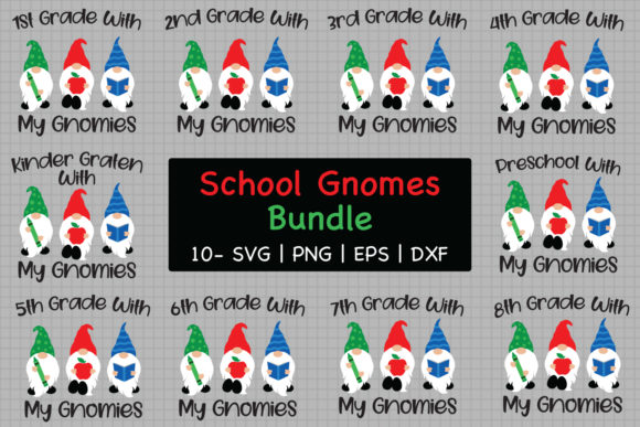School Gnomes Bundle Graphic Crafts By All About Svg