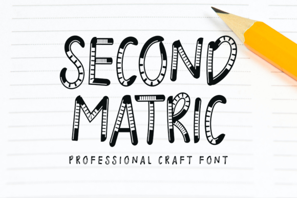 Print on Demand: Second Matric Display Font By K_IN Studio