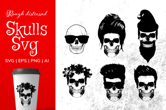 Print on Demand: Skull for Cricut Graphic Illustrations By Simply Swapnil