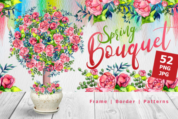 Print on Demand: Spring Bouquet Watercolor Set Graphic Illustrations By MyStocks