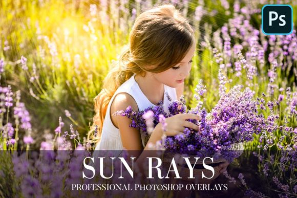 Sun Rays Overlays Photoshop Graphic Actions & Presets By AUK_SOLUTION