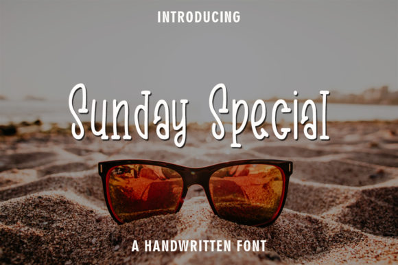 Print on Demand: Sunday Special Script & Handwritten Font By rangkaiaksara