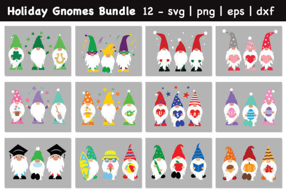 Ultimate Gnomes Bundle, Holiday Gnomes Graphic Crafts By All About Svg