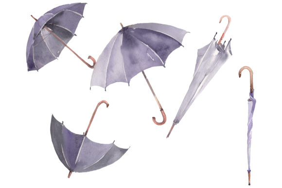 Print on Demand: Umbrella Watercolor Png Graphic Illustrations By MyStocks
